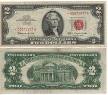 USA   $2 Bill  (dated 1963)  ,   RED SEAL    *REPLACEMENT SERIE*   P382     XF - Bilglietti Della Riserva Federale (1928-...)