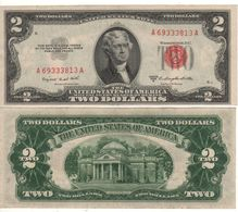 USA   $2 Bill  (dated 1953)  ,   RED SEAL      Fr1511     A-UNC - Federal Reserve Notes (1928-...)