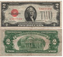 USA   $2 Bill  (dated 1928 G)  ,   RED SEAL      Fr1508       VF - Federal Reserve Notes (1928-...)