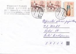 M1862 - Czech Rep. (2000) 582 77 Libice Nad Doubravou (letter); Tariff: 5,40 Kc (stamp: 4,60 - Bee Hive) - Bienen