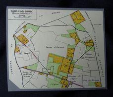 Plan Ancien De BORNAMBUSC, ( Seine-Maritime ), Datant De 1956. - Cartes Géographiques