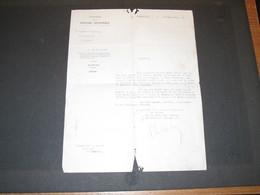CAPORAL DUPONT GUILLAUME- 6e De Ligne- Mort Au Combat - Lettre D'obtention De La Croix De L'Ordre De Leopold 11/8/21 - 1914-18