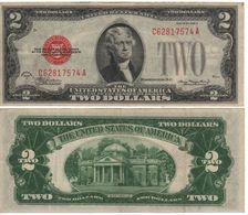 USA   $2 Bill  (dated 1928 D)  ,   RED SEAL      Fr1505       VF - Federal Reserve Notes (1928-...)