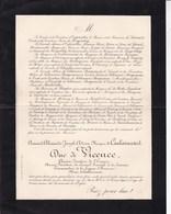 PARIS COULAINCOURT Maire Armand Duc De VICENCE Ancien Sénateur D'Empire 81 Ans 1896  Faire-part Mortuaire - Décès