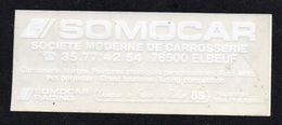 SOMOCAR 76500 ELBEUF - Autocollant  - Ref: 734 - Stickers