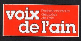VOIX DE L AIN HEBDOMADAIRE - Autocollant  - Ref: 735 - Stickers
