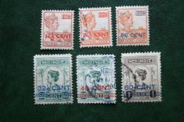 Hulpuitgifte NVPH 142-147 1921 - 1922 Used / Gestempeld NEDERLAND INDIE / DUTCH INDIES - Nederlands-Indië