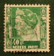 40 Ct Koningin Wilhelmina NVPH 203 1934 Gestempeld / Used NEDERLAND INDIE / DUTCH INDIES - Niederländisch-Indien