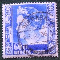 60 Ct Koningin Wilhelmina NVPH 206 1934 Gestempeld / Used NEDERLAND INDIE / DUTCH INDIES - Netherlands Indies