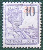 10 Ct Hulp Uitgifte Overprint NVPH 229 1937 Gestempeld / Used NEDERLAND INDIE / DUTCH INDIES - Nederlands-Indië