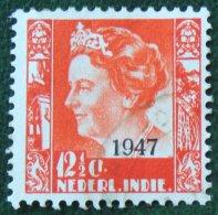 12 1/2 Ct Overprint Koningin Wilhelmina NVPH 326 1947 Gestempeld / Used NEDERLAND INDIE / DUTCH INDIES - Niederländisch-Indien