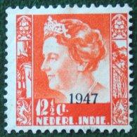 12 1/2 Ct Overprint Koningin Wilhelmina NVPH 326 1947 Gestempeld / Used NEDERLAND INDIE / DUTCH INDIES - Indes Néerlandaises