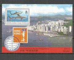 TERRITORIO BRITANICO DEL OCEANO INDICO HOJA BLOQUE YVERT NUM. 7 ** NUEVA SIN FIJASELLOS HONG KONG 97 - British Indian Ocean Territory (BIOT)
