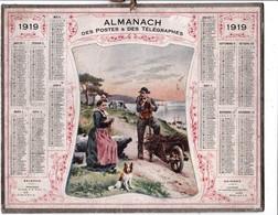CALENDRIER ALMANACH D' EPOQUE Année 1919 Format 21 X 26 Complet Carte De La Haute Garonne 31 - Calendars