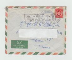LSC 1962 - Cachet Ancre Marine Et Cachet Abidjan Et Flamme Sur Timbre FM - Côte D'Ivoire (1960-...)