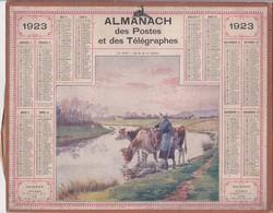 CALENDRIER ALMANACH D' EPOQUE Année 1923 Format 21 X 26 Complet Carte De La Haute Garonne 31 - Petit Format : 1901-20