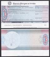 Bank Check/ Chèque Bancaire - Euro Cheque/ BANCO BORGES & IRMÃO  - Olivais Sul , Portugal // Requesição - Cheques & Traveler's Cheques