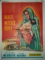** SAUDI  ARABIA  AFFICHE ANCIENNE Originale   MENBOOB NAUSMAD  MARGIS MERE  INDIENNE  MOTHER   60 X 80 Cm INDE ASIE - Affiches