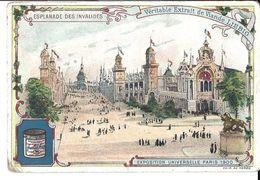 Chromo - Liebig - Esplanade Des Invalides - Exposition Universelle Paris 1900 - Liebig