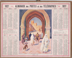 CALENDRIER ALMANACH D' EPOQUE Année 1925 Format 21 X 26 Complet MAROC Porte à FEZ MAROCCO  Carte De La Haute Garonne 31 - Calendriers