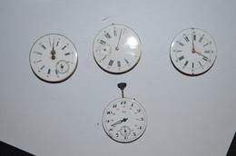 1 Lot De 4 Mouvement Montres Gousset - Watches: Bracket