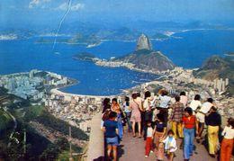 Rio De Janeiro - Panorama Visto Do Mirante Da Corcovado - Brasil - Formato Grande Viaggiata – E 4 - Rio De Janeiro