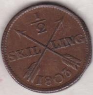 Sweden. 1/2 Skilling 1803. Gustaf IV Adolf. KM# 565 - Suède