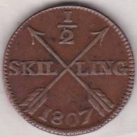 Sweden. 1/2 Skilling 1807. Gustaf IV Adolf. KM# 565 - Suède