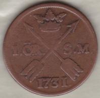 Sweden. 1 Öre 1731 . Frederick I .KM# 416.1 - Suède