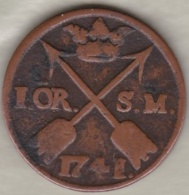 Sweden. 1 Öre 1741 . Frederick I .KM# 416.1 - Suède
