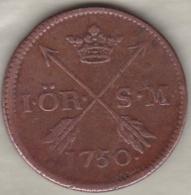 Sweden. 1 Öre 1750 . Frederick I .KM# 416.1 - Suède