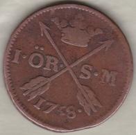 Sweden. 1 Öre 1758. Adolf Frederick. KM# 460 - Suède