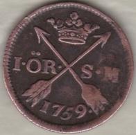 Sweden. 1 Öre 1759. Adolf Frederick. KM# 460 - Suède