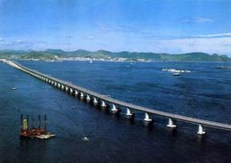 Rio De Janeiro - Ponte Presidente Costa E Silva - Brasil - Formato Grande Viaggiata Mancante Di Affrancatura – E 4 - Rio De Janeiro