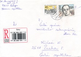 M1879 - Slovakia (2003) 936 01 Sahy (R-letter To Czech Rep.); Tariff: 49 Sk (stamp: 9 Sk - Antoine De Saint-Exupery) - 2. Weltkrieg