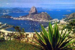Rio De Janeiro - Vista Panoramica De Botafogo Com Pao De Acucar - Brasil - Formato Grande Viaggiata – E 4 - Rio De Janeiro