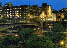 Sao Paul - Brasil - Viaduto Do Cha - Vista Noturna - Formato Grande Viaggiata – E 4 - São Paulo