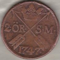Sweden. 2 Öre 1747. Frederick I .KM# 437 - Suède
