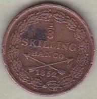 Sweden. 1/3 Skilling Banco 1852 . Oscar I. KM# 657 - Suède