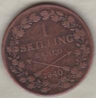 Sweden. 1 Skilling Banco 1840. Carl XIV Johan (Bernadotte) KM# 642 - Suède