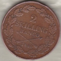 Sweden. 2 Skilling Banco 1840. Carl XIV Johan (Bernadotte) KM# 643 - Suède