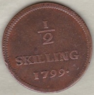 Sweden. 1/2 Skilling 1799 . Adolf Frederick. KM# 549 - Suède