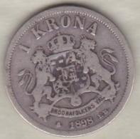 Sweden . 1 Krona 1898. Oscar II. Argent. KM# 760 - Suède