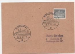 Berlin MiNr.:140 SSt Eisenbahnerkongress München 20.06.1962; Special Postmark Munich - Berlin (West)