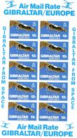 GIBRALTAR / METEOSAT Espace Superbe Blocs De 10 Valeurs Dentelés MNH Valeur 12.00 Euros Vente 2.00 Euros - Space