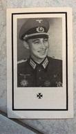 Sterbebild Bild Gefallener Soldat DKiG EK1 & 2 Träger Hauptmann Artillerie Reg. Ostfront - 1939-45