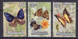Malaysia 1970 Mi. 63-65 Butterfly Schmetterling Papillon MNH** - Malaysia (1964-...)