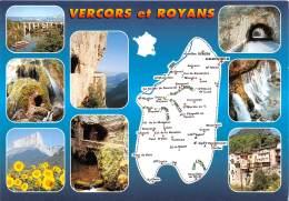 VERCORS ET ROYANS St Nazaire Choranche Mont Aiguille Combe Laval Grands Goulets Tunnels 11(scan Recto-verso) MA686 - Other Municipalities