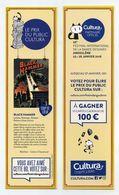Lot De 2 Marque-page Thème BD - Prix Public Cultura - FIBD 2018 Angoulême - Black Hammer - Ces Jours Qui Disparaissent - Bookmarks