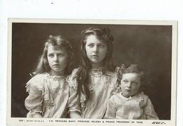 Royal Family  Rp  T.h. Princess Mary,princess Helena And Prince Frederick Of Teck.  Unused Rotary - Royal Families